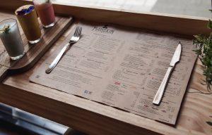 Podkładki papierowe do restauracji